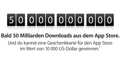 Bald 50 Milliarden Downloads aus dem App Store.