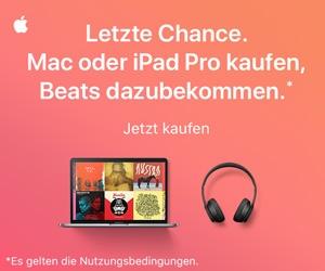 Letze Chance. Mac oder iPad Pro kaufen, Beats dazubekommen.