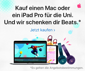 Kauf einen Mac oder iPad Pro für die Uni. Und wir schenken dir Beats.