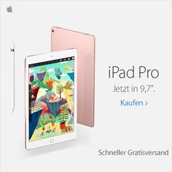 iPad Pro. Jetzt in 9,7 Zoll. Schneller Gratisversand