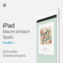 iPad Macht einfach Spaß. Schneller Gratisversand