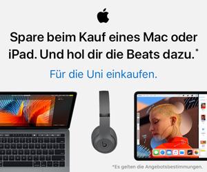 Spare beim Kauf eines Mac oder iPad. Und hol dir die Beats dazu.
